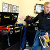 Mike Windsor, owner, talks about the CIC Powerbox during an interview at the Pittsburg factory on Friday.<br /> Globe | Roger Nomer