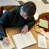 Virginia Laas, a retired Missouri Southern faculty member, works in Spiva Library on Thursday.<br /> Globe | Roger Nomer