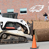 Crews continue laying sod on the grounds of the new Joplin Early Childhood Center on Wednesday.<br /> Globe | Laurie Sisk