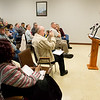 Rev. Darryl Gray, state chairperson for the Social Action Commission at the Missouri Baptist State Convention, answers questions on Tuesday about the Jalen Vaden case during a press conference at the Community Service Center.