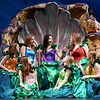 "McKenna Shaw, center, portrays Ariel as she chats with the other mermaids during partial dress rehearsal for the Pitsburg High School production of ""The Little Mermaid"" on Wednesday at Pittsburg's Memorial Auditorium.<br /> Globe 