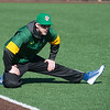 Logan Moon warms up at Missouri Southern on Thursday afternoon.<br /> Globe | Roger Nomer