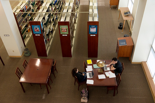 Students study at Missouri Southern's Spiva Library on Thursday.<br /> Globe | Roger Nomer