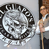 Alex Menejias, owner of El Guapo's Cigar and Pipe Lounge on Joplin street, expresses his concerns over being charged for business licenses three times after he moved his business each time to expand.<br /> Globe | Laurie SIsk