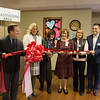 (from left) Steve Graddy, Freeman chief financial officer, Freeman president and chief executive officer, Beth Garrett, physician at Freeman Children's Clinic, Julia Foster, nurse practioner at the Clinic, Annie Carey, office administrator at the Clinic, and Jeff Carrier, Freeman chief compliance officer, help cut the ribbon at the new lactation room at the Freeman Children's Clinic on Tuesday morning. In collaboration with the Missouri Breastfeeding Coalition, the Missouri Department of Health and Senior Services provided a $500 grant to create the space.<br /> Globe | Roger Nomer