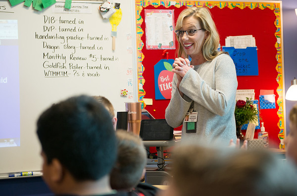 Kathy Nicodemus returned to Irving Elementary after Spencer's death because of the school's atmosphere of family and professionalism.<br /> Globe   Roger Nomer