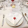 Elegant table settings adorn a table prior to the Hunt family's annual Valentines dinner on Saturday near Carl Junction.<br /> Globe | Laurie Sisk