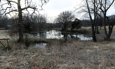 A spring fed pond sits on Mark and Jennifer Renfro's Diamond property on Tuesday. The land is targeted for a Missouri American Water proposed reservoir and has been in the Renfro family for 170 years. Globe | Laurie Sisk