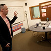 Tim Metcalf talks about a fundraising area at KRPS on the campus of Pittsburg State University on Wednesday.<br /> Globe | Roger Nomer