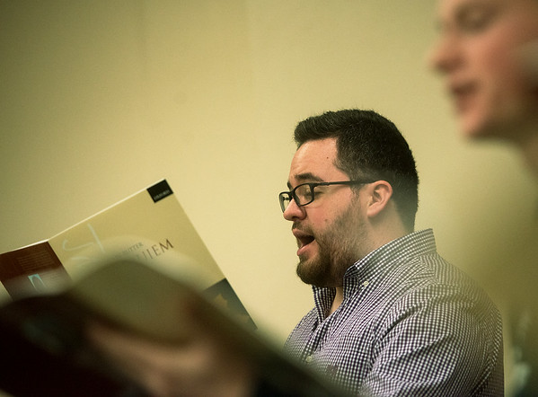 Jacob Spencer, a Missouri Southern senior, will travel with the MSSU Concert Chorale to New York.<br /> Globe | Roger Nomer