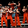 Members of Nevada High School's Soundsational Singers perform for the crowd on Saturday during the In the Spotlight Show Choir Invitational on Saturday at Joplin High School. The two-day event featured 27 choirs from area schools.<br /> Globe | Laurie Sisk