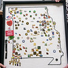 Missouri state pins are displayed on a map.<br /> Globe | Roger Nomer
