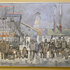 Miners are depicted in this Jim Bray acrylic work of the Portland Mines, Webb City. Bray currently has an extensive exhibit on display at the Joplin Museum Complex.<br /> Globe | Laurie SIsk