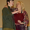 Jakob Buter, left, helps Marilyn Marshall rehearse her role for the Joplin Little Theatre's Valentine Concert on Wednesday night at JLT. <br /> Globe | Laurie Sisk