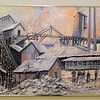 Miners are depicted in this Jim Bray acrylic work of the Omega Mine in Oronogo. Bray currently has an extensive exhibit on display at the Joplin Museum Complex.<br /> Globe | Laurie SIsk