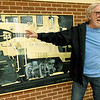 Artist Jim Bray on Friday recalls how as a youngster he delivered newspapers up the steps of a train engine platform. Bray currently has an extensive exhibit on display at the Joplin Museum Complex.<br /> Globe | Laurie SIsk