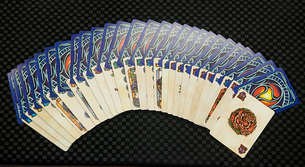 Liquid Blue playing cards deck<br /> Globe | Roger Nomer
