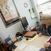 Jill Greer talks about her research into Chiwere and Siouan languages during an interview on Monday at her office at Missouri Southern.<br /> Globe | Roger Nomer