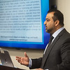 Nauman Ashraf, director of addiction services for Ozark Center, talks about the results of a survey of 100 participants from Ozark Center's OBOT clinic on Wednesday at Ozark Center.<br /> Globe | Roger Nomer