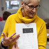 Kandis Pendley, school nurse at Pleasant Valley Elementary in Carthage, talks about a screening result on Friday at the school.<br /> Globe | Roger Nomer