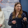Stephanie Brady, executive director at the Community Clinic in Joplin, talks about the need for Medicaid expansion in Missouri on Thursday at Access Family Care.<br /> Globe | Roger Nomer