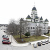 The Gadarian Event Center's rooftop venue that is currently under construction on the Carthage square offers a striking view of the Jasper County Courthouse.<br /> Globe | Laurie SIsk
