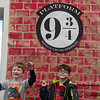 Sam Fedewa (left), 7, and Declan Howard, 6, pose for a photo during Harry Potter Day at the Joplin Public Library on Friday.<br /> Globe | Roger Nomer