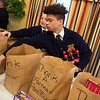 Cheyenne Miller and Braxton Cox, freshmen at Joplin High School, helps with donations from the  Missouri Farm Bureau on Tuesday at the Ronald McDonald House in Joplin. <br /> Globe | Roger Nomer
