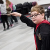 Boen Gordon, 8, tries out his new wand during Harry Potter Day at the Joplin Public Library on Friday.<br /> Globe | Roger Nomer