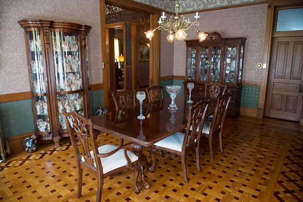 Dining Room at the Elijah Thomas Webb Home is located in Webb City.<br /> Globe | Roger Nomer