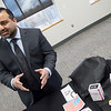 Nauman Ashraf, director of addiction services at Ozark Center, talks about drugs used to treat opioid addictions on Wednesday at Ozark Center.<br /> Globe | Roger Nomer