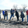 Board members from the Friends of Wildcat Glades Group break ground for a new educational cottage on Friday at the site of the former Wildcat ballfields. The project was made possible with grants and donations of about $50,000 and is ecpected to be completed in about two months.<br /> Globe | Laurie Sisk