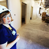 Globe/T. Rob Brown<br /> April Bennett, assistant director of the Cardiac Medical Unit at Freeman East, tours the fifth floor Thursday afternoon, Jan. 12, 2012. The CMU will move to a new expansion, located on the fifth and sixth floors, which is expected to add more than 100 nurses to the hospital's staff plus additional support personnel.