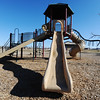 The surviving playground equipment still stands at Parr Hill Park Wednesday afternoon, Jan. 4, 2012, in Joplin, Mo. If Joplin Parks & Recreation wins money in a Reader's Digest online contest, Chris Cotten, Joplin parks director, said these funds will go toward improving Parr Hill Park, one of several city parks either damaged or nearly wiped clean by the storm. (AP Photo/The Joplin Globe, T. Rob Brown)