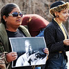 Globe/T. Rob Brown<br /> Locals, including Debbie Powell (left), of Joplin, who holds a photo of Martin Luther King Jr., and members of the Myrtle Lodge No. 149 participate in a parade honoring King's legacy Monday afternoon, Jan. 16, 2012, on Langston Hughes-Broadway in downtown Joplin. The parade, in honor of the civil rights leader, started at the intersection of Langston Hughes-Broadway and St. Louis Avenue and continued on to the Joplin Public Library.