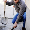 Globe/T. Rob Brown<br /> Eric Jeffries, president of Jeffries Plumbing, Heating & Air Conditioning, checks the status of heating and cooling lines for a concrete home under construction Tuesday afternoon, Jan. 24, 2012, near the intersection of 19th Street and Highland Avenue.