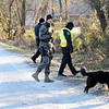 Globe/T. Rob Brown<br /> A long line of search & rescue members head into the woods to look for a missing Joplin man Monday afternoon, Jan. 2, 2012, within a couple blocks of the intersection of Newman Road and Florida Avenue.