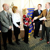 Globe/T. Rob Brown<br /> A $150,000 donation from KW Cares (a charitable organization attached to Keller Williams) for the Will Norton Memorial Miracle Field to be built by the Joplin Rotary Club, including $358,000 already received from other Rotarians around the country. The facility, planned to be built at the Joplin Athletic Complex, will be for children with disabilities. Pictured from left are: Jenny Hocker, Keller Williams sales associate and chairperson of the Joplin Rotary Tornado Taskforce; Mark and Trish Norton, Will Norton's parents; Doris Carlin and Kent Eastman, Keller Williams representatives; and Greg Crawford, Noon Rotary president.