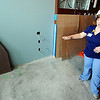 Globe/T. Rob Brown<br /> April Bennett, assistant director of the Cardiac Medical Unit at Freeman East, tours a future patient room on the fifth floor Thursday afternoon, Jan. 12, 2012. The CMU will move to a new expansion, located on the fifth and sixth floors, which is expected to add more than 100 nurses to the hospital's staff plus additional support personnel.
