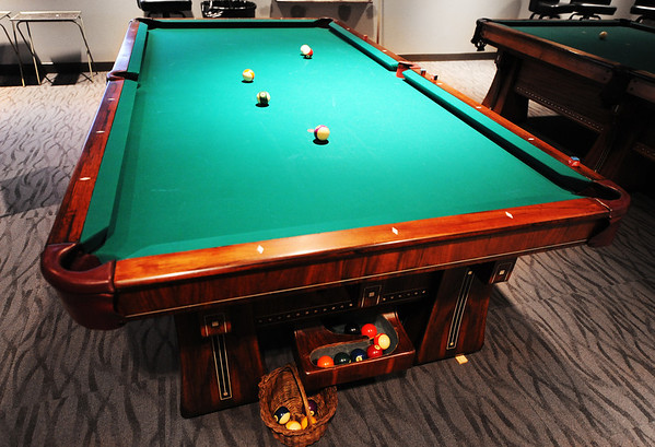 Globe/T. Rob Brown<br /> The new pool table at the Joplin Elk's Lodge Thursday afternoon, Jan. 10, 2013.