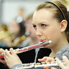Globe/T. Rob Brown<br /> Sophomore Kirsten Crosby practices the flute with the rest of the band Friday morning, Jan. 4, 2013, in Laurie Kinder-Lang's class at McDonald County High School's band room for their upcoming presidential performance.