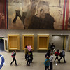 Globe/Roger Nomer<br /> Large photos from the past of Joplin schools line the main hallway at East Middle School.