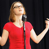 "Katherine Wartnaby, Joplin 10th-grader, recites Linda Pastan's ""I am Learning to Abandon the World"" during an in-school competition for the Poetry Out Loud National Recitation Contest on Tuesday afternoon at the Joplin High School 9th and 10th crade campus. Wartnaby took first palce in the competition and won the right to compete in the regional competition on Feb. 11, 2014.<br /> Globe 