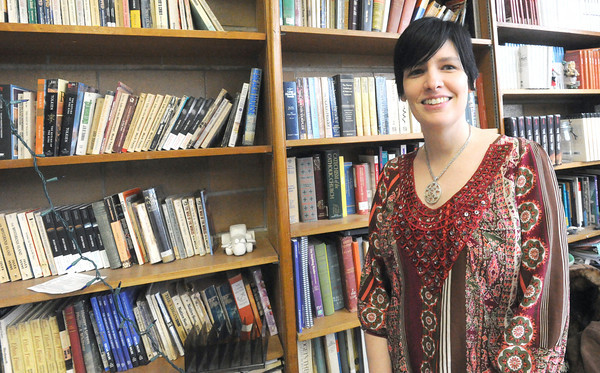"Kaari Schrader serves as adviser for McAuley High School's literary magazine, the ""Ink Slayer.""<br /> Globe 