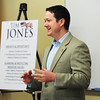 Globe/Roger Nomer<br /> Missouri Speaker of the House Tim Jones talks about the upcoming legislative session during a stop at Employer Advantage in Joplin in Friday.