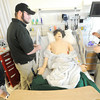 "From the left: Missouri Southern paramedic students Antoinette Peterson, Cody Goodman, Erin Rust and Sarah Rutledge perform as patient assessment on a ""Sim Man""  at MSSU's Simulation Center for Interdisciplinary Clinical Education on Wednesday afternoon."