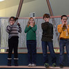 Globe/Roger Nomer<br /> Second graders play a listening game in the Eagles Nest, an open learning environment at the new Soaring Heights Elementary.