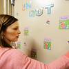 Special education teacher Martha Maples readies her room at the new Irving Elementary School Thursday afternoon, Jan. 2, 2014.<br /> Globe | T. Rob Brown