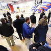 Representatives from architectural firm Sapp Design Associates and consulting engineers Toth & Associates, Inc. tour the new Irving Elementary School Thursday afternoon, Jan. 2, 2014. The school's gymnasium doubles as a community tornado shelter.<br /> Globe | T. Rob Brown
