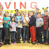 Irving elementary studnets do the honors during a ribbon cutting ceremony for the new Irving Elementary School on Friday morning. The $18.5 million facility replaces the former school, which was destroyed in the May, 2011 tornado.<br /> Globe   Laurie Sisk